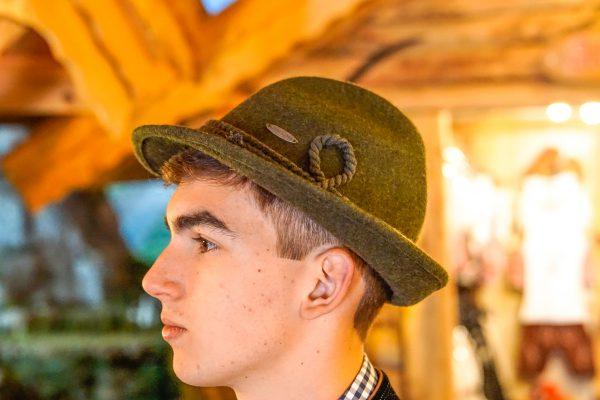 Chapéu típico verde 1 Mundo Tirolês - Artigos Típicos Austríacos e Alemães
