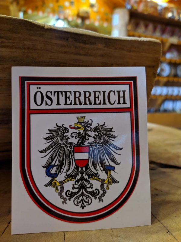 Adesivo Áustria 1 Mundo Tirolês - Artigos Típicos Austríacos e Alemães