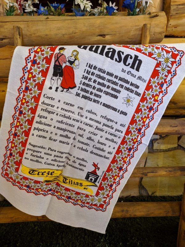 Pano de prato  Gulasch 1 Mundo Tirolês - Artigos Típicos Austríacos e Alemães