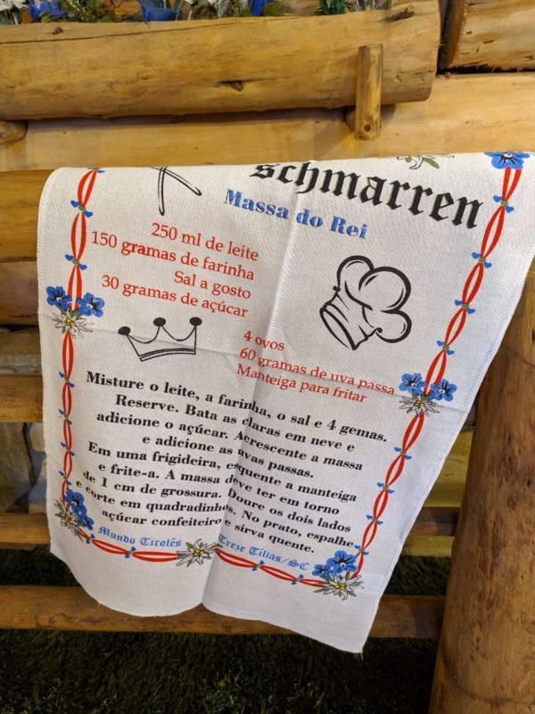 Pano de prato Kaiserschmarren 1 Mundo Tirolês - Artigos Típicos Austríacos e Alemães